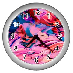 Abstract Acryl Art Wall Clocks (silver)