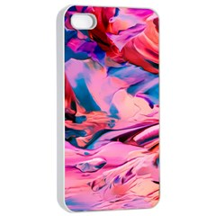 Abstract Acryl Art Apple Iphone 4/4s Seamless Case (white)