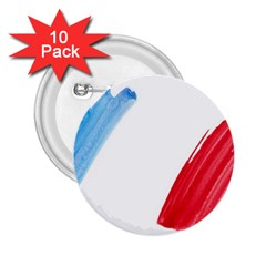 France Flag, Banner Watercolor Painting Art 2 25  Buttons (10 Pack)