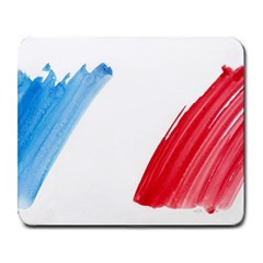 France Flag, Banner Watercolor Painting Art Large Mousepads