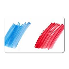 France Flag, Banner Watercolor Painting Art Magnet (rectangular)