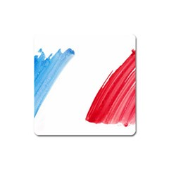 France Flag, Banner Watercolor Painting Art Square Magnet