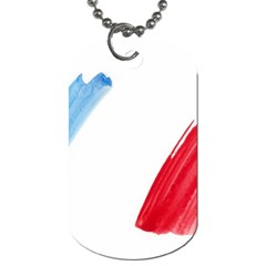 France Flag, Banner Watercolor Painting Art Dog Tag (one Side)