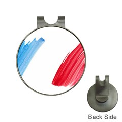 France Flag, Banner Watercolor Painting Art Hat Clips With Golf Markers
