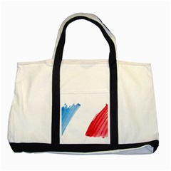 France Flag, Banner Watercolor Painting Art Two Tone Tote Bag