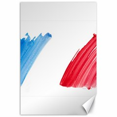 France Flag, Banner Watercolor Painting Art Canvas 20  X 30
