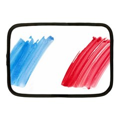 France Flag, Banner Watercolor Painting Art Netbook Case (medium)