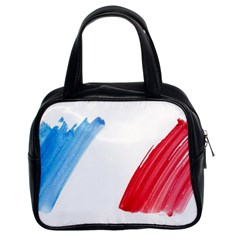 France Flag, Banner Watercolor Painting Art Classic Handbags (2 Sides)