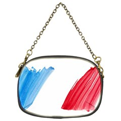 France Flag, Banner Watercolor Painting Art Chain Purses (one Side)