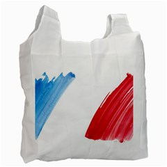 France Flag, Banner Watercolor Painting Art Recycle Bag (one Side)