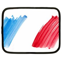 France Flag, Banner Watercolor Painting Art Netbook Case (xxl)