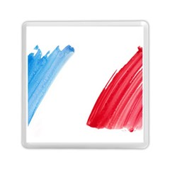 France Flag, Banner Watercolor Painting Art Memory Card Reader (square)