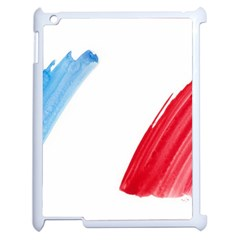 France Flag, Banner Watercolor Painting Art Apple Ipad 2 Case (white)