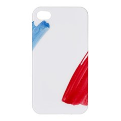France Flag, Banner Watercolor Painting Art Apple Iphone 4/4s Hardshell Case
