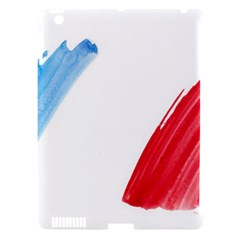 France Flag, Banner Watercolor Painting Art Apple Ipad 3/4 Hardshell Case (compatible With Smart Cover)