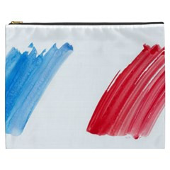 France Flag, Banner Watercolor Painting Art Cosmetic Bag (xxxl)