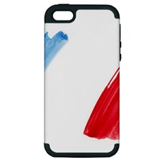 France Flag, Banner Watercolor Painting Art Apple Iphone 5 Hardshell Case (pc+silicone)