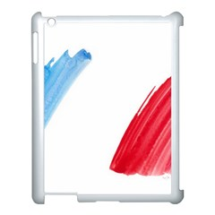 France Flag, Banner Watercolor Painting Art Apple Ipad 3/4 Case (white)