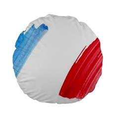 France Flag, Banner Watercolor Painting Art Standard 15  Premium Round Cushions