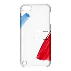 France Flag, Banner Watercolor Painting Art Apple Ipod Touch 5 Hardshell Case With Stand