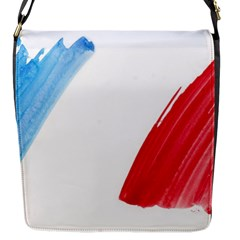 France Flag, Banner Watercolor Painting Art Flap Messenger Bag (s)