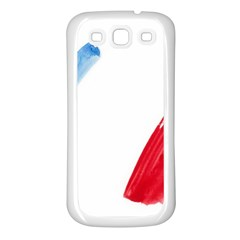 France Flag, Banner Watercolor Painting Art Samsung Galaxy S3 Back Case (white)