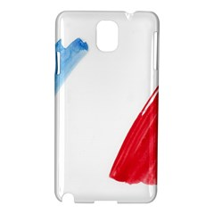 France Flag, Banner Watercolor Painting Art Samsung Galaxy Note 3 N9005 Hardshell Case