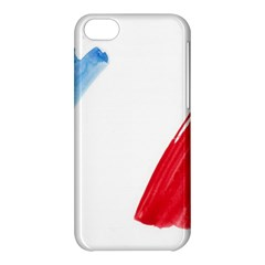 France Flag, Banner Watercolor Painting Art Apple Iphone 5c Hardshell Case