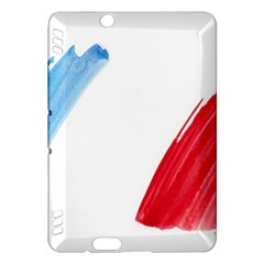 France Flag, Banner Watercolor Painting Art Kindle Fire Hdx Hardshell Case