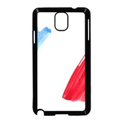 France Flag, Banner Watercolor Painting Art Samsung Galaxy Note 3 Neo Hardshell Case (black)