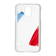 France Flag, Banner Watercolor Painting Art Samsung Galaxy S5 Case (white)