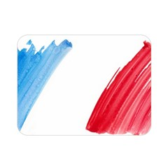 France Flag, Banner Watercolor Painting Art Double Sided Flano Blanket (mini)