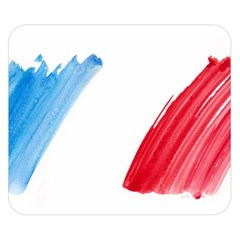 France Flag, Banner Watercolor Painting Art Double Sided Flano Blanket (small)
