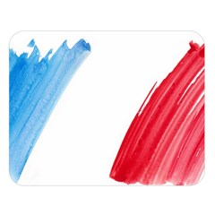 France Flag, Banner Watercolor Painting Art Double Sided Flano Blanket (large)
