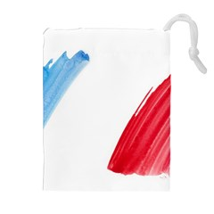 France Flag, Banner Watercolor Painting Art Drawstring Pouches (extra Large)