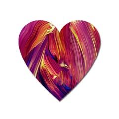 Abstract Acryl Art Heart Magnet