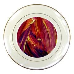 Abstract Acryl Art Porcelain Plates