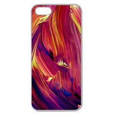 Abstract Acryl Art Apple Seamless Iphone 5 Case (clear)