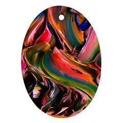 Abstract Acryl Art Ornament (oval)