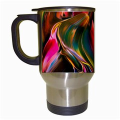 Abstract Acryl Art Travel Mugs (white)