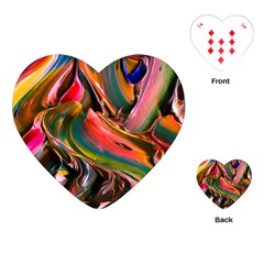 Abstract Acryl Art Playing Cards (heart)