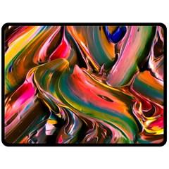 Abstract Acryl Art Fleece Blanket (large)