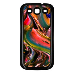 Abstract Acryl Art Samsung Galaxy S3 Back Case (black)