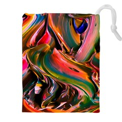 Abstract Acryl Art Drawstring Pouches (xxl)