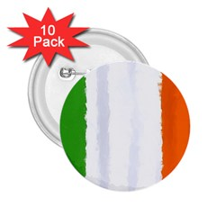 Flag Ireland, Banner Watercolor Painting Art 2 25  Buttons (10 Pack)