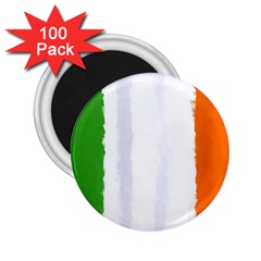 Flag Ireland, Banner Watercolor Painting Art 2 25  Magnets (100 Pack)