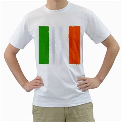 Flag Ireland, Banner Watercolor Painting Art Men s T Shirt (white) (two Sided)