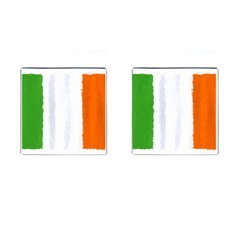 Flag Ireland, Banner Watercolor Painting Art Cufflinks (square)
