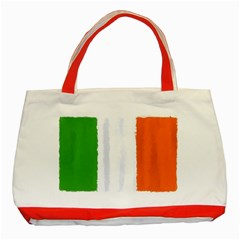 Flag Ireland, Banner Watercolor Painting Art Classic Tote Bag (red)