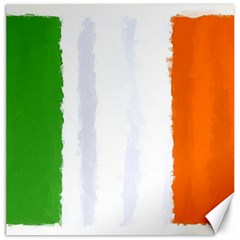 Flag Ireland, Banner Watercolor Painting Art Canvas 12  X 12
